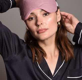 Organic Cotton Eye Mask & Bamboo Silk Pillowcase Gift Set | Lilac Linen from Billy Sleeps in Sleepwear, Women's Sustainable Clothing