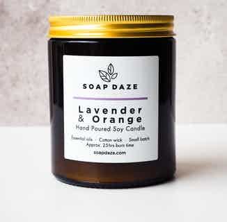 Essential Oils & Soy Wax Candle | Lavender Orange from Soap Daze in Lighting & Candles, Homeware