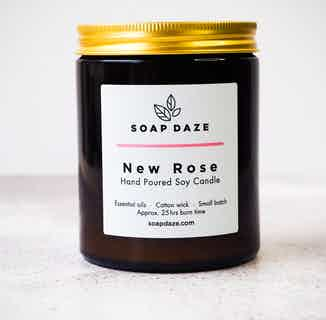 Essential Oils & Soy Wax Candle | New Rose from Soap Daze in Lighting & Candles, Homeware