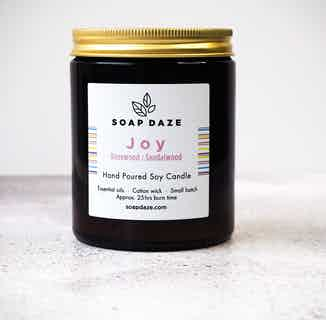 Essentail Oils & Soy Wax Candle | Joy from Soap Daze in Lighting & Candles, Homeware