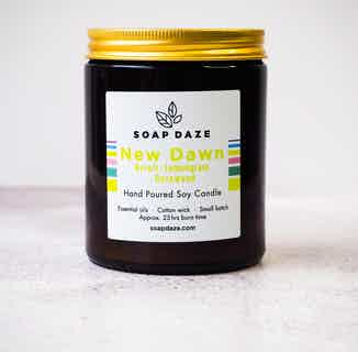 Essential Oils & Soy Wax Candle | New Dawn from Soap Daze in Lighting & Candles, Homeware