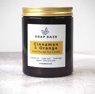 Essential Oils & Soy Wax Candle | Cinnamon Orange from Soap Daze in Lighting & Candles, Homeware