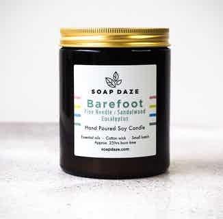 Essential Oils & Soy Wax Candle | Barefoot from Soap Daze in Lighting & Candles, Homeware