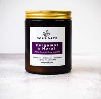 Essential Oils & Soy Wax Candle | Bergamot and Neroli from Soap Daze in Lighting & Candles, Homeware