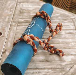 Eagle Spirit | Recycled Natural Rubber Yoga Mat | Blue from Inhala Soulwear in Yoga Equipment & Accessories, Sports & Exercise
