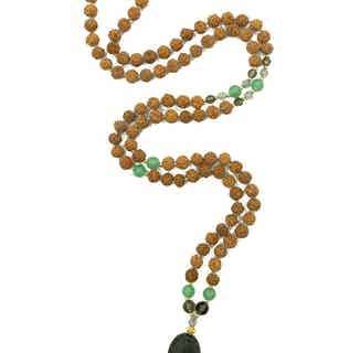 Peace   Yoga Bead Necklace from Inhala Soulwear in Necklaces, Jewellery