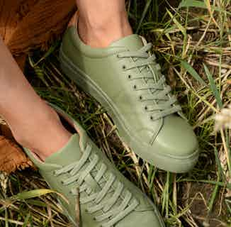 R-Kind | Vegan Leather Gender Neutral Trainer | Titan Khaki from Ration.L in Women's Sustainable Clothing,