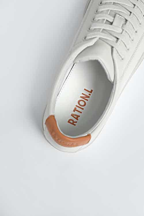 R-Kind Vegan Leather Gender Neutral Trainers | Lunar Rock from Ration.L in Women's Sustainable Clothing,