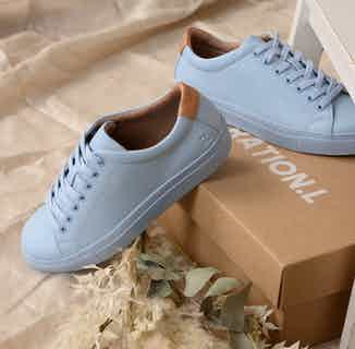 R-Kind   Vegan Leather Gender Neutral Trainer   Neptune Blue from Ration.L in Women's Sustainable Clothing,