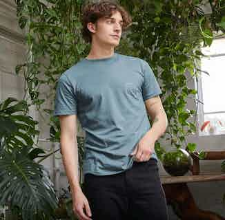 R Truth   Certified Organic Cotton Gender Neutral T-shirt   Blue from Ration.L