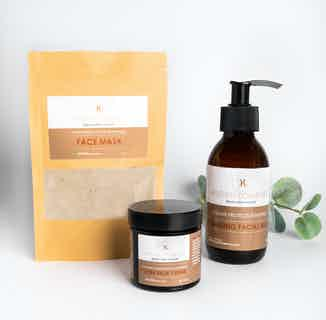 Skin Care 101 Set   Organic Sustainable Skincare   Face Mask & Cream & Face Wash from Kitchen Cosmetics in Sustainable Beauty & Health,