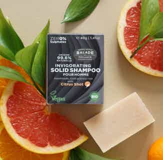 Invigorating Solid Shampoo for Men 40g from Balade en Provence in Shampoo, Haircare