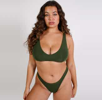 MicroModal Triangle Bralette And Bikini Set | Rifle Green from Cavalier in Underwear, Women's Sustainable Clothing