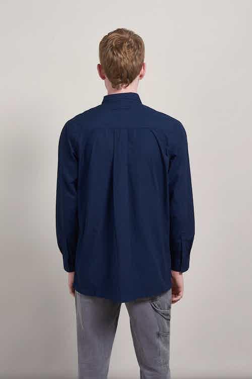 Tomas | GOTS Certified Organic Cotton Long Sleeved Shirt | Indigo Blue from Komodo in Shirts, Tops