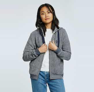 Sydney | GOTS Organic Cotton Zip Through | Indigo & Grey from Komodo in Women's Sustainable Clothing,