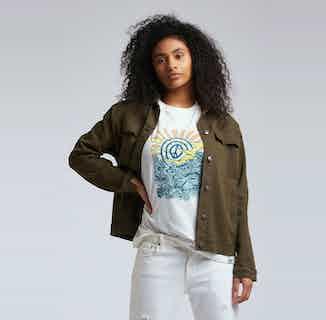 Sky Garden | GOTS Organic Cotton Jacket | Green Khaki from Komodo in Women's Sustainable Clothing,