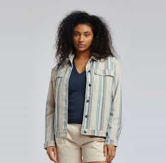 Sky Garden | GOTS Organic Cotton Jacket | Blues from Komodo in Women's Sustainable Clothing,