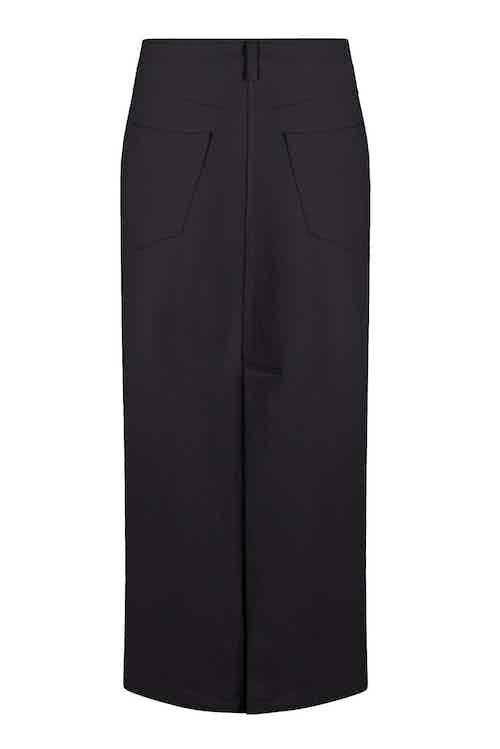 Moonlight   Organic Cotton Midi Skirt   Black Coal from Komodo in Women's Sustainable Clothing,