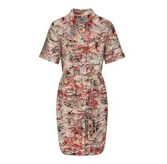 Sun   Organic Linen Women's Dress   Bali Red from Komodo in Dresses & Skirts, Women's Sustainable Clothing