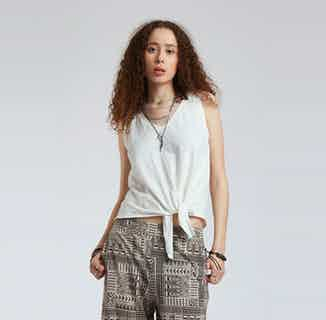 Bay | GOTS Organic Cotton Tie Vest Top | Off White from Komodo in Women's Sustainable Clothing,