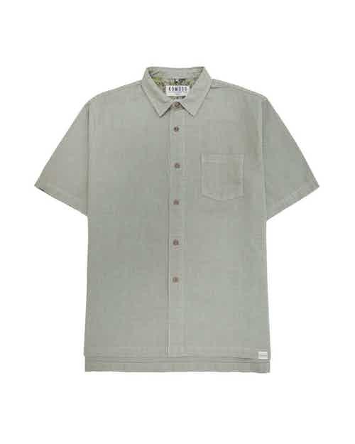 Dingwalls | Organic Linen & Cotton Men's Shirt | Grey Khaki from Komodo in Shirts, Tops