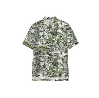 Dingwalls | Organic Linen & Cotton Men's Shirt | Bali Green from Komodo in Shirts, Tops