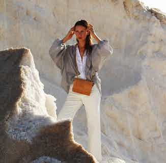 Alpha | Women's Cork Crossbody Bag | Natural from Murmali in Bags, Women's Sustainable Clothing