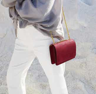 Alpha   Women's Cork Crossbody Bag   Burgundy from Murmali in Bags, Women's Sustainable Clothing