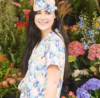 Protea Flower Power | Bamboo Eyemask | Multi-Coloured from Nightire in Sleepwear, Women's Sustainable Clothing