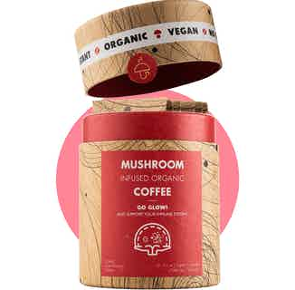 Go Glow | Organic Instant Coffee | Chaga and Chanterelle | 10 Servings from Mushroom Cups in Coffee, Drinks