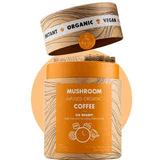 Go Sharp | Organic Instant Coffee | Lion's Mane and Chanterelle | 10 servings from Mushroom Cups in Coffee, Drinks