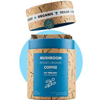 Go Tireless | Organic Instant Coffee | Cordyceps and Chanterelle Mushrooms | 10 servings from Mushroom Cups in Coffee, Drinks
