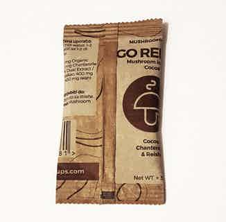 Go Relax | Organic Vegan Instant Cocoa | Chanterelle & Reishi Mushrooms | 15 Servings from Mushroom Cups in Coffee, Drinks