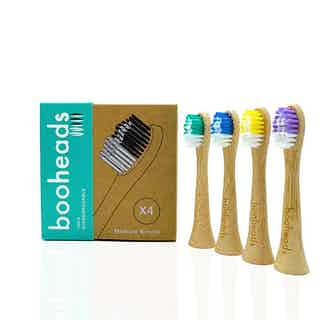 Soniboo | 4 Pack Eco-Friendly Sustainable Bamboo Electric Sonicare Compatible Toothbrush Heads | Multicolour from Booheads in Oral care, Sustainable Beauty & Health