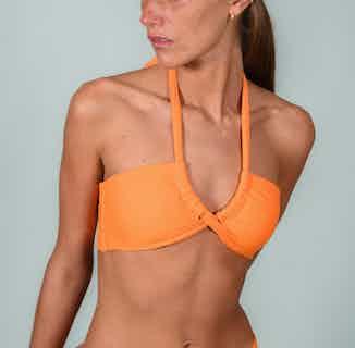 Capri | Upcycled Nylon Bikini Top and Bottom Set | Orange from Nael in Swimwear, Women's Sustainable Clothing