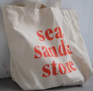 100 % Organic Cotton 'Sea, Sand & Stone' Tote Bag | Natural&Red from Nael in Totes Shoppers, Bags