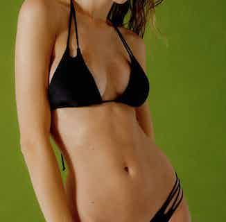 Wild | Upcycled Nylon Bikini Top | Black from Nael