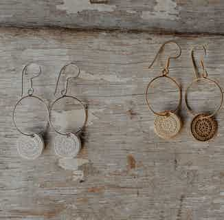 Mandala | Ethically Sourced Sterling Silver or 18ct Gold Plated Drop Earrings from Hobo and Hatch in Jewellery, Women's Sustainable Clothing