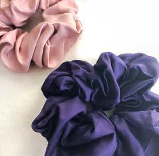 Organic Bamboo Silk Scrunchie   Large Pack of 2   Spring Blossom from Good House London in Accessories, Women's Sustainable Clothing