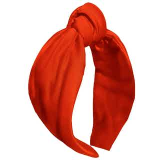 Organic Bamboo Silk Turban Knot Headband   Rouge Red from Good House London in Accessories, Women's Sustainable Clothing
