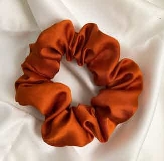 Organic Bamboo Silk Scrunchie   Burnt Red Spice from Good House London in Accessories, Women's Sustainable Clothing