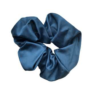 Organic Bamboo Silk Scrunchie   Large   Heavenly Blue from Good House London in Accessories, Women's Sustainable Clothing