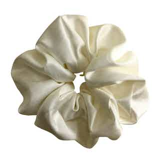 Organic Bamboo Silk Scrunchie   Large   Dove White from Good House London in Accessories, Women's Sustainable Clothing
