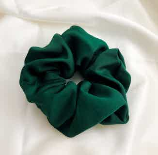 Organic Bamboo Silk Scrunchie   Large   Forest Green from Good House London in Accessories, Women's Sustainable Clothing