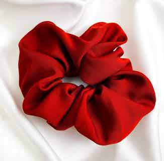 Organic Bamboo Silk Scrunchie   Large   Rouge Red from Good House London in Accessories, Women's Sustainable Clothing
