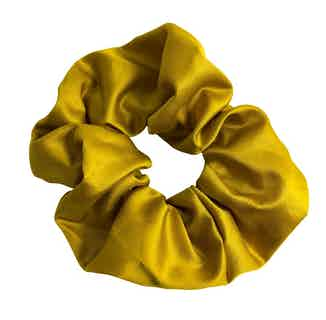 Organic Bamboo Silk Scrunchie   Large   Sunflower Yellow from Good House London in Accessories, Women's Sustainable Clothing