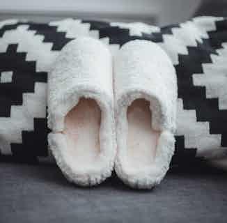 Helena | Recycled Polyester Faux Fur Slipper Mule | Cream from Shu Da Living in Slippers, Footwear