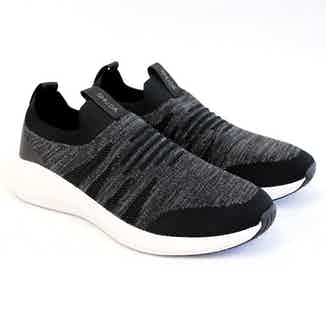 Olivia   Recycled Polyester Slip-on Flyknit Trainer   Black from Shu Da Living in Footwear, Women's Sustainable Clothing
