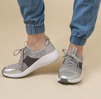 Jessica   Recycled Polyester Lace-up Flyknit Trainer   Grey from Shu Da Living in Footwear, Women's Sustainable Clothing