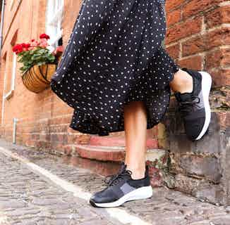 Jessica   Recycled Polyester Lace-up Flyknit Trainer   Black from Shu Da Living in Footwear, Women's Sustainable Clothing